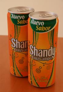 Dues llaunes de Shandy Cruzcampo Naranja