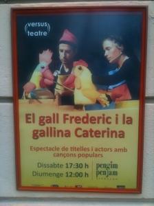 Pòster de l'obra de teatre infantil El gall Frederic i la gallina Caterina