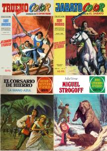 Portades 'Antonio Bernal per a El Capitán Trueno, El Jabato, El Corsario de Hierro i Joyas Literarias Juveniles
