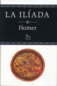 Portada de la Ilíada, traduïda per Manuel Balasch. Edicions Proa, 1997.