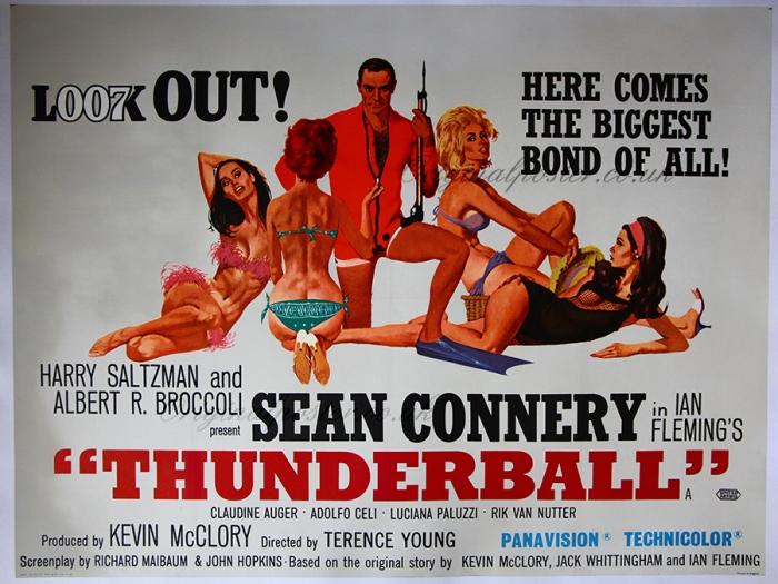 Pòster original de la pel·lícula Thunderball