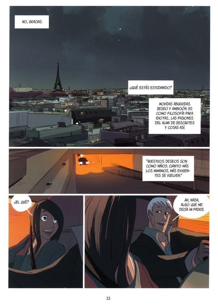A la nit de París, l'home porta en el seu cotxe a la jove cangur del seu fill.