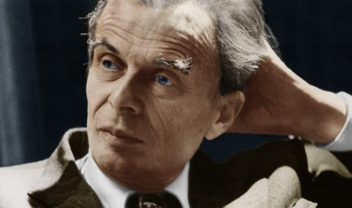 Retrat de l'escriptor Aldous Huxley.