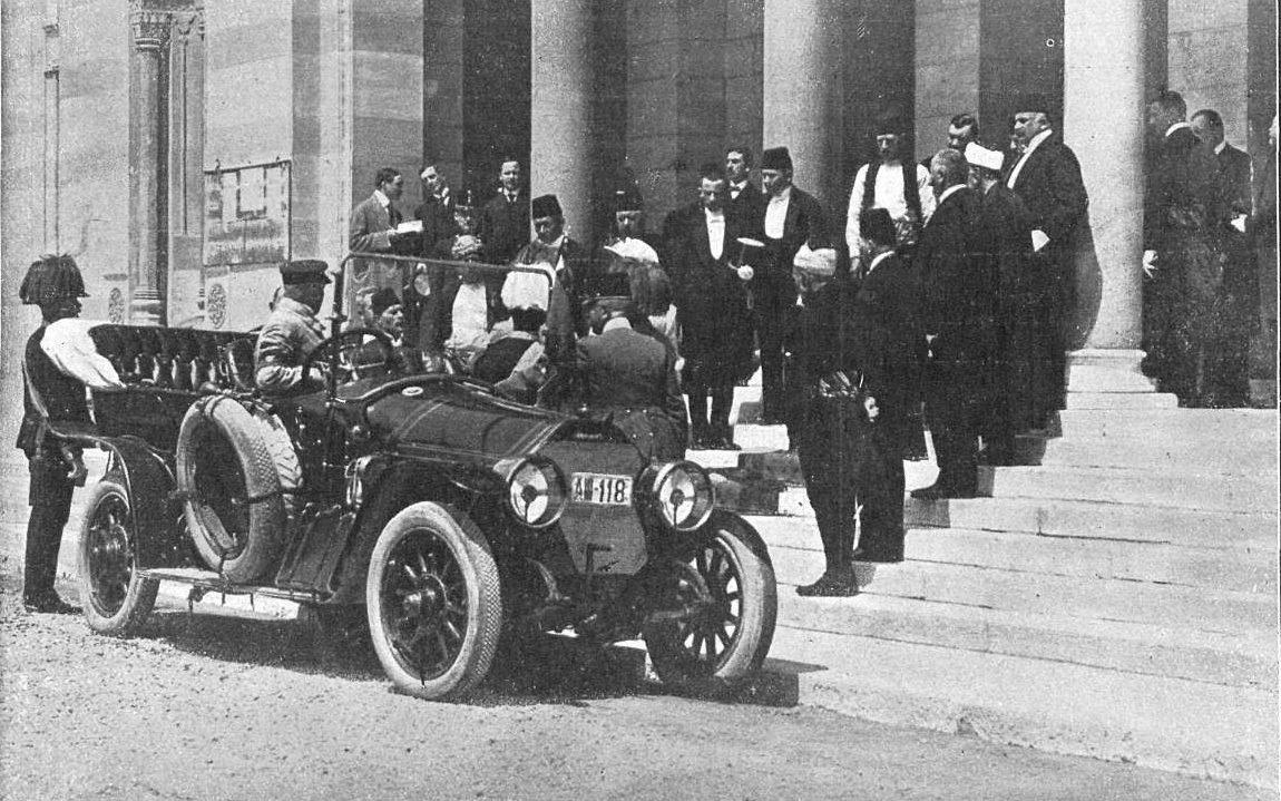 Rebuda a Sarajevo al príncep Franz Ferdinand i la seva dona Sophie.